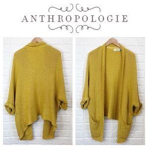 Sparrow mustard yellow open sweater cardigan